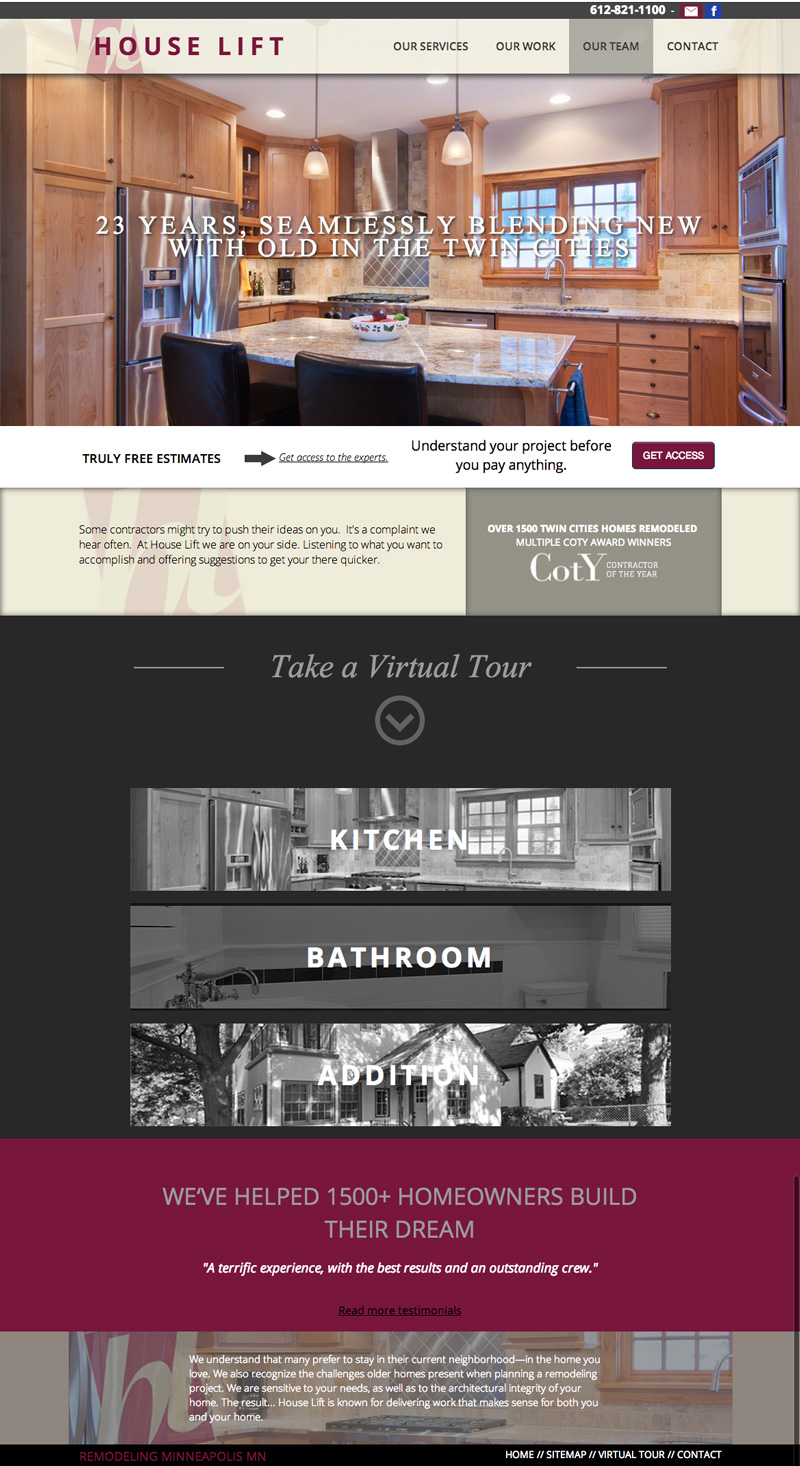 Home remodeling web design home design and style for Home and landscape design andover mn